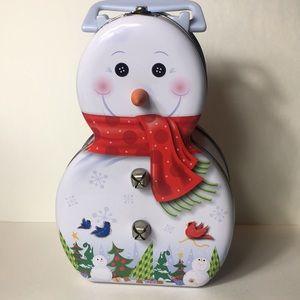 Snowman ⛄️ tin lunch box!